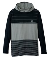Volcom Men's Sub Stripe Long Sleeve Hooded Surf Tee Rashguard