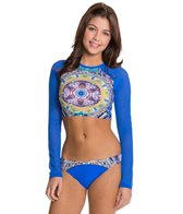 Red Carter Sun Goddess Cropped Rashguard