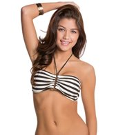 Red Carter Tropical Ladder Square Hardware Bandeau Bikini Top