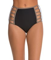 Red Carter Boogie Nights High Waist Cut Out Bikini Bottom
