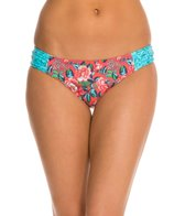 Profile Blush Shangri-La Shirred Side Tab Bikini Bottom