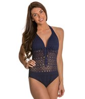 BLEU Rod Beattie Sneak Peak Halter One Piece Swimsuit