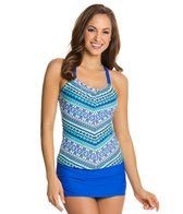 Next Perfection Third Eye Shirred Tankini Top