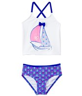 Hula Star Stripes Away Tankini Set (2T-6X)