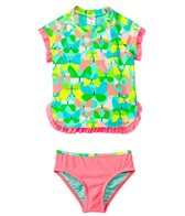 Hula Star Flight Of The Butterflies S/S Rashguard Set (2T-6X)