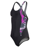Arena Carbonite Girls One Piece SwimsuitSwim Pro Back