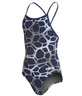 Arena Polycarbonite Girls Drop Back One Piece Swimsuit