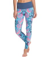 Om Shanti Clothing Navy Floral Printed Yoga Leggings
