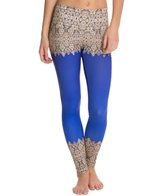 Om Shanti Clothing Elegant Border Printed Performance Legging