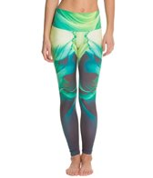 Om Shanti Clothing Arizona Green Printed Performance Legging