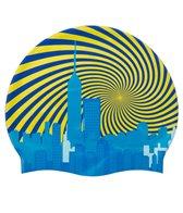 Sporti Swirl City Silicone Swim Cap