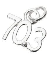 Bay Six 70.3 Floating Silver Sterling Charm