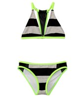 Hurley Girls' Prism Bandeau Top Tunnel Bottom Bikini Set (7yrs-14yrs)