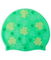 Sporti All Over Clover Silicone Swim Cap Jr