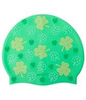 Sporti All Over Clover Silicone Swim Cap Jr