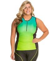 Shebeest Women's Tri Zip Top Plus Size