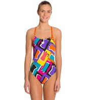 Arena Espresso Female Lightech Back One Piece Swimsuit