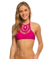 Bettinis Crochet Halter Bikini Top