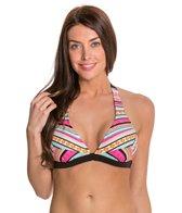 Jessica Simpson Vaquera Banded Halter Bikini Top