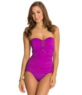 BLEU Rod Beattie American Hustle Bandeau Mio One Piece Swimsuit