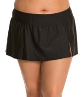 Delta Burke Plus Size Solid Slit Skirt Bottom