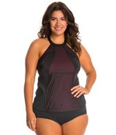 Fit4U Plus Size Boy Meets Girl High Neck Top