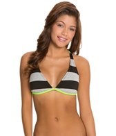 Hurley Tomboy Stripe Halter Bikini Top