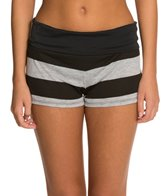 Hurley Tomboy Stripe Fold Over Short