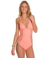 Hurley Webbed One Piece Swimsuit