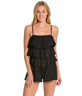 Fit4U Solid Three Tiered Bandeau Romper