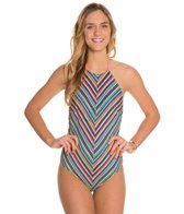 MINKPINK Herringbone Stripe One Piece Swimsuit
