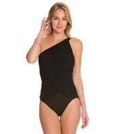 Magicsuit by Miraclesuit Shirred Solid Diana One Shoulder One Piece