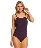 Magicsuit by Miraclesuit Solid Colorblock Lisa One Piece Swimsuit