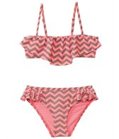 O'Neill Girls' Island Ruffle Chevron Set (7yrs-14yrs)
