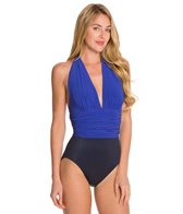 Magicsuit by Miraclesuit Solid Colorblock Yves Halter One Piece Swimsuit
