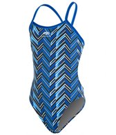 Blue Seventy Girls' Chevron Open Back Swimsuit