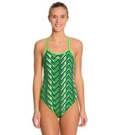 Blue Seventy Women's Chevron Open Back Swimsuit