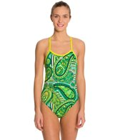 Blue Seventy Women's Paisley Lotus Open Back Swimsuit