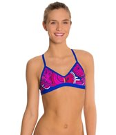 Blue Seventy Women's Paisley Lotus Performance Bikini Swimsuit Top