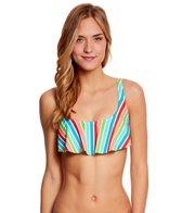 Bikini Lab Rainbow Perfection Bow Back Hanky Flutter Top