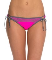 Bikini Lab Sporty Splice Adjustable Hipster Bikini Bottom