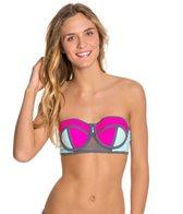 Bikini Lab Sporty Splice Bustier Bikini Top