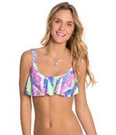 Bikini Lab Live and Let Tie Dye Hanky Flutter Top