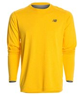 New Balance Men's LS Heather Tech Tee