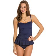 Tommy Bahama Pearl Solids Sweetheart Ruffle Tankini Top