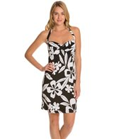Tommy Bahama Hawaii Floral Twist Halter Spa Swim Dress
