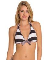 Tommy Bahama Rugby Stripe Reversible Halter Bra Bikini Top