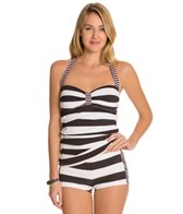 Tommy Bahama Rugby Stripe Halter Long Tankini Top