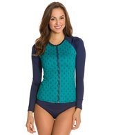 Tommy Bahama Anchors Away L/S Rashguard W/ Zipper