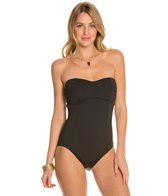 Tommy Bahama Pearl Solids Pleated Tie Back One Piece Swimsuit